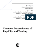 Common Determinants of Liquidity and Trading