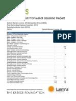 Talent Dividend Detroit Provisional Baseline Report Alpha