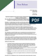 Press Release on Q3 2011 Snapshot Survey 11.22.11
