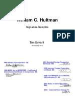 MERS William Hultman Signatures