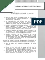 Reglamento Para laboratorios de computo.