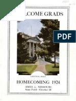 1924 Homecoming Football Program