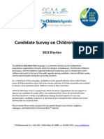 2012 Candidate Responses- VOTE for KIDS New York Questionnaire