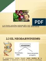 2.3 El Neodarwinismo