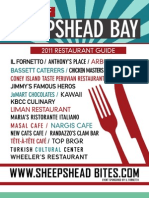 Sheepshead Bay Restaurant Guide 2012