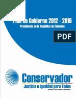 Plan de Gobierno Partido Conservador