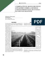 Efectos de la combinación de Abonos Orgánicos y Fertilizante Químico sobre la Densidad aparente y el Espacio Poroso total de un suelo volcánico nicaragüense