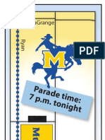 Map for McNeese State Homecoming Parade