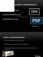 How to achieve performance (HRM)