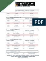 Calendario del Indor futbol KILLA RAYMI 2012