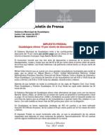 03-01-2011 IMPUESTO PREDIAL Guadalajara Ofrece 15 Por Ciento de Descuento Por Pronto Pago