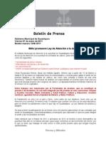 07-01-2011 IMAJ promueve Ley de Atención a la Juventud