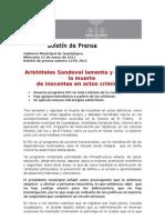 12-01-2011 Aristóteles Sandoval lamenta y reprueba la muerte de inocentes en actos criminales