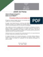 14-01-2011 Presentan Al Director Del Instituto de La Vivienda