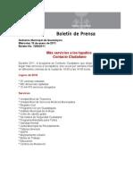 19-01-2011 Más servicios a los tapatíos Contacto Ciudadano