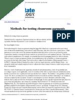 Methods for Testing Cleanroom Garments