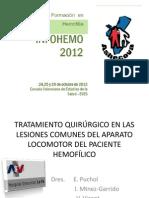 Tratamiento Quirurgico Aparato Locomotor en Hemofilicos. Dr. Enrique Puchol ( INFOHEMO 2012) 24.10.12
