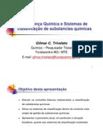 Segurança Química e Sistema de Classificação de Substâncias Químicas
