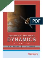 Engineering Mechanics Dynamics, 6th Edition Meriam Kraige