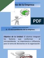 II.- El Microambiente de La Empresa Oct 2012