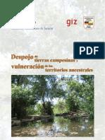 CCJ - Despojo de Tierras Campesinas y Vulneración de Territorios Ancestrales