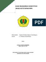 Kewenangan Mahkamah Konstitusi Menguji Ketetapan MPR
