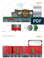 Christmas Train Playset Printables 1209