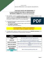 Guía de Pago de Cuotas de Pensiones y otros conceptos por la Modalidad de Banca Directa V 3 0