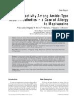 Cross Reactivity for caine drug group