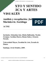 CONTEXTO Y SENTIDO EN MÚSICA Y ARTES VISUALES - un knol de sergio valenzuela