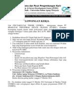 Pengumuman Lowongan kerja.pdf