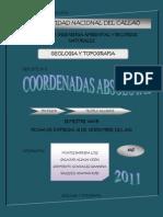 COORDENADAS ABSOLUTAS