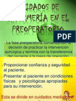 CUIDADOS DE ENFERMERÍA EN EL PREOPERATORIO