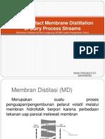 Direct Contact Membrane Distillation of Dairy Process Streams