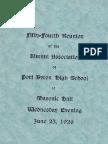 54th Reunion PB High Alumni Association 1926