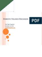 domestic violence discussion