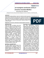 Phytochemical Investigation and Diuretic Activity Of