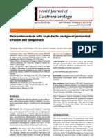 pericardiocentesis + cisplatino