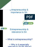 Session 22 - Entrepreneurs & Relevance to SA