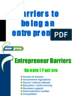 Barriers to being an ent 1 Nov 2006 2nd Yrs