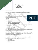 Smu Mba Project Management Semester2 Questionpaper1