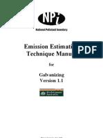 Emission Estimation Technique in Hot-dip Galvanizing
