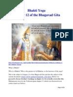 Bhakti Yoga Chapter 12 of Bhagavad Gita