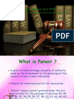 Presentation on Patents Act-1970 New