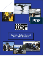WSP Operating Budget Request 2013