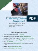 2 Machining Measurement