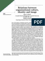 Org. Culture Relationship