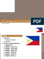 Status of Philippine Free Trade Agreements