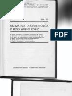 Normativa Architettonica e Regolamenti Edilizi