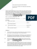 Sample - JV Agreement